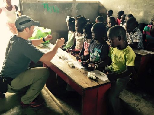 Teaching Haitian Children